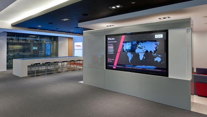 Mural Digital McAfee | @OfficeSnapshots