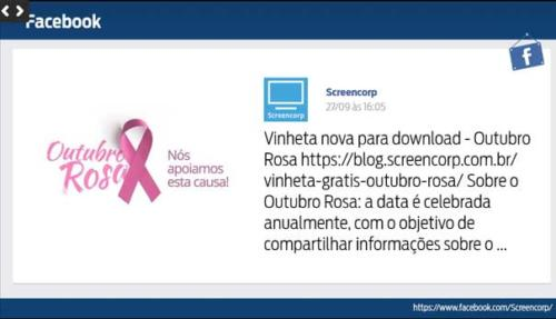 tv corporativa integracao facebook