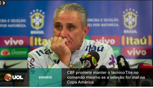 TV Corporativa com notícias do UOL